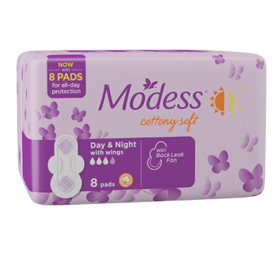 Modess Day & Night Sanitary Napkins with Wings