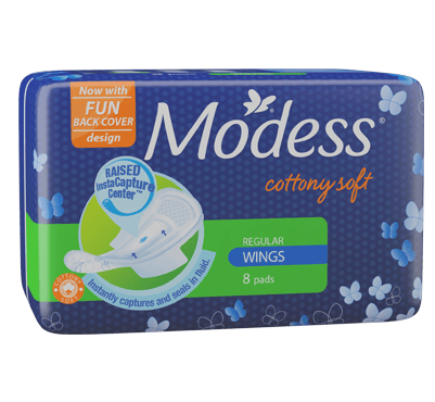 Modess Cottony Soft Maxi Regular Sanitary Napkins with Wings